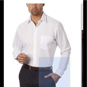 NWOT VAN HEUSEN WHITE FITTED DRESS SHIRT❤️❤️❤️❤️